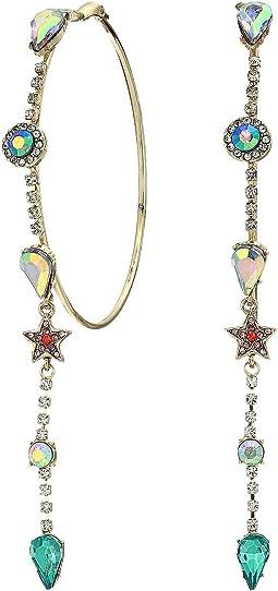 Mixed Stone Hoop Earrings