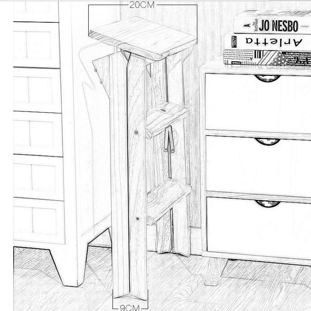 HAOHAODONG Tabouret de Maison Tabouret Pliant à la Maison Échelle Portable Adulte Simple Chaise Tabouret de Cuisine Tabouret en Bois Massif surélevé,2 2