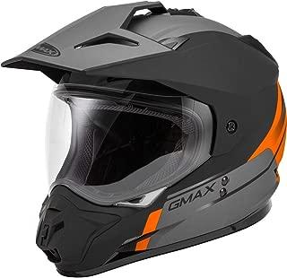 black orange motorcycle helmet