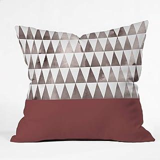 "Deny Designs Georgiana Paraschiv Earthy Triangles Throw Pillow, 16"" x 16"""
