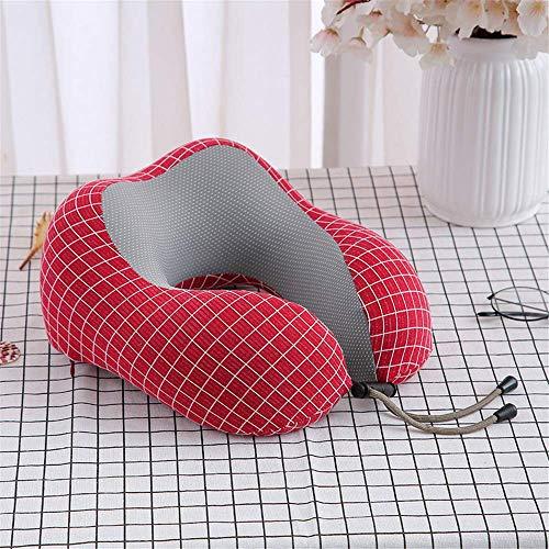 N/X Nueva Almohada para la Siesta Almohada para el Cuello Memoria cómoda Algodón Seda de Hielo Almohada en Forma de U Almohada de Viaje de Oficina Cuello