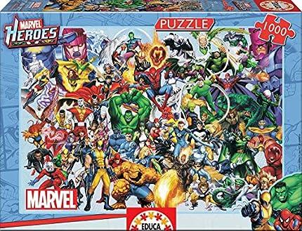 Educa - Los Héroes de Marvel Puzzle, 1000 Piezas, Multicolor (15193)