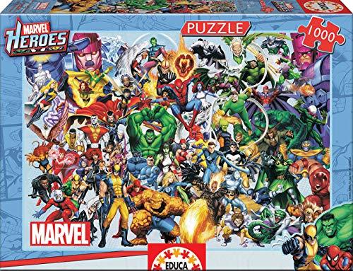 Educa Borras - Serie Marvel, Puzzle 1.000 piezas Los héroes de Marvel (15193)