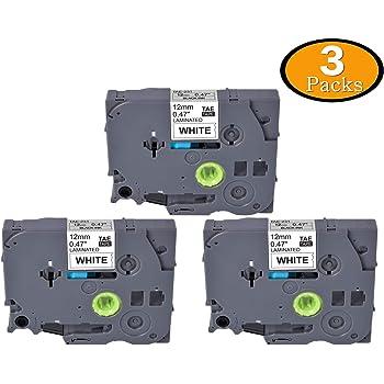 "30PK Label Tape TZe231 12mm 0.47/""Black//White for Brother P-Touch PT-D450 PT-1090"