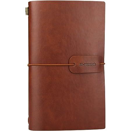 Geschenk blanko Tagebuch Leder f/ür M/änner und Frauen 13x18cm Journal Buch gebunden in Handarbeit Notizbuch Leder von Scriveiner London Reisetagebuch aus Baumwollpapier
