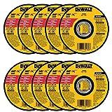 DEWALT - DW8062 - 10,PK DW8062 4-1/2'x.045'x7/8' Metal Angle Grinder Thin Cutoff Wheel, 10 Pack, (Model: DW8062-10,PK)