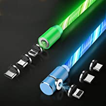 Magnetic Charging Cable.3 in 1 Cable(2 Pack,5 ft) Blue+Green