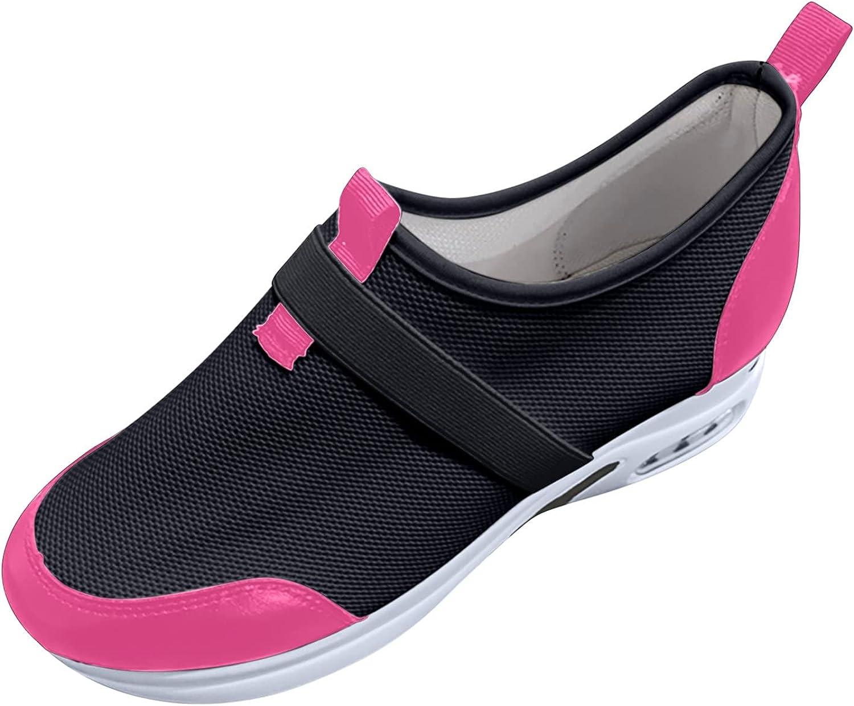 oiangi Womens Walking Sneakers Fashion Casual Mesh Slip On Air C