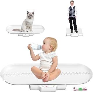 مقیاس کودک ، مقیاس حیوان خانگی ، دیجیتال مقیاس نوزاد ، با سینی قد (حداکثر: 27.5 در 70 سانتی متر) وزن را به طور دقیق اندازه گیری کنید (حداکثر: 220lb) ، مناسب برای کودک نو پا / توله سگ / گربه / سگ / بزرگسالان
