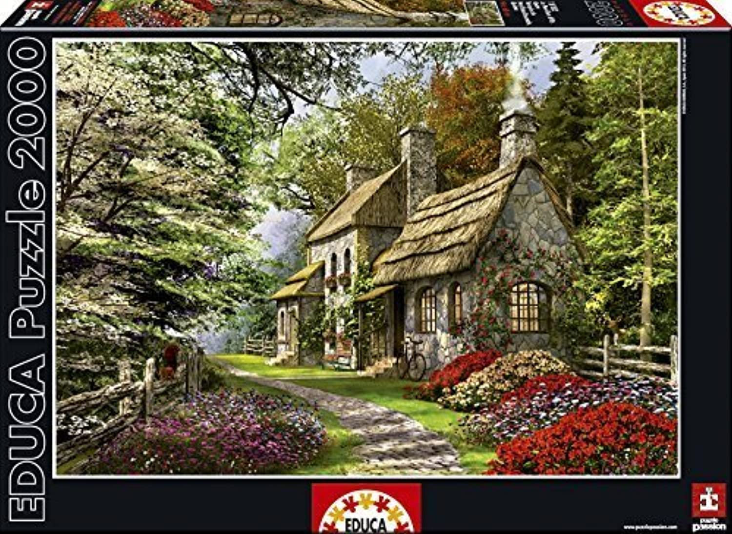 Educa Carnation Cottage Puzzle (2000 Piece) by Educa