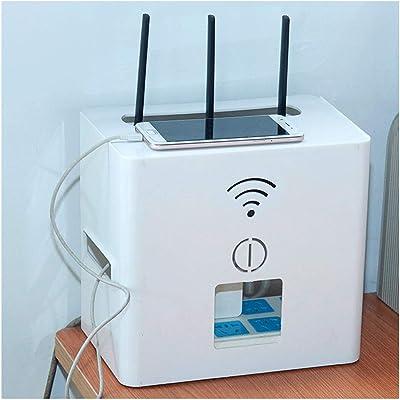 Wifi Router Shelf Router Wifi óptico Cat set-top box zócalo de energía de la caja del estante de almacenamiento utilizado for cubrir y ocultar el cable de alimentación y el cable de Gestión de caja de