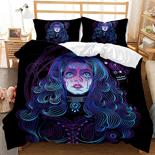 3D Black 12 Constellation Printing Quilt Cover, 3-Piece Set Of Comfortable And Breathable Bedding For Boys And Girls, Single And Double Machine Washable Large Polyester Home Textiles