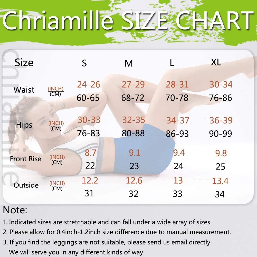 Chriamille Textured Shorts High Waist Butt Lifting Shorts for Women Tummy Control Workout/Lift/Leggings Anti/Cellulite Shorts