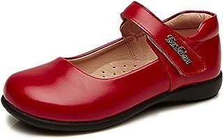 Chiximaxu Maxu Leather Mary Jane Flat Girl Casual Shoes(Toddler/Little Kid/Big Kid)