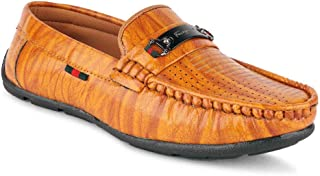 LENNIX Best Fit Designer Ultra Comfort Synthetic Leather Casual Loafers for Boys and Kids