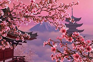 1000 Piece Cherry Blossoms Puzzles Wooden Spring Mount Fuji Jigsaw Puzzle for Adult