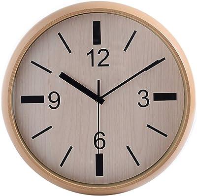 Yomioak Modern Simple Fashion Family Living Room Wall Clock, European-Style Retro Creative Personality