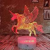 HNXDPBeautiflu RGB Unicornio 3D Night Light Led 7 Color Touch Table...