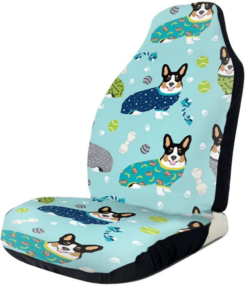 Car Seat Cover Bulldog OFFicial shop Blue Deluxe Driver Universal S Bucket
