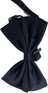 HOTT Men's Slim Fit Suit-Mens Ties Novelty Silk Black