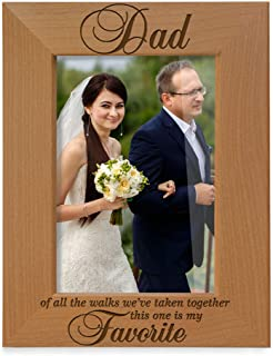 Kate Posh Dad of All The Walks We've Taken Together This one is My Favorite. Engraved Natural Wood Picture Frame, Father o...