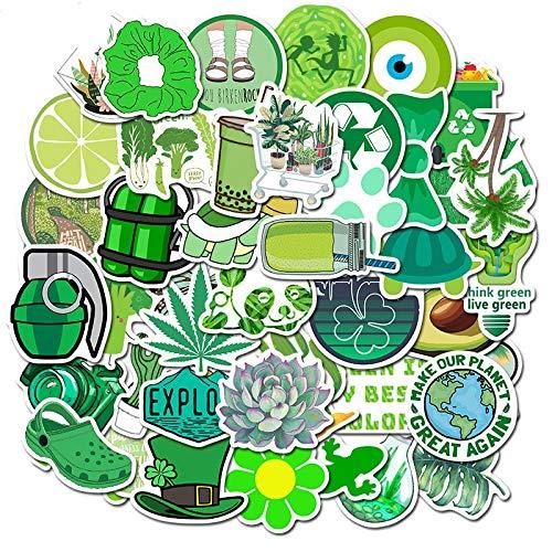 ZZHH 50 Uds Creativo Verde Dibujos Animados pequeña Serie Fresca Pegatina Impermeable Maleta portátil Graffiti decoración al por Mayor