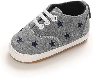 MASOCIO Zapatos Bebé Niño Niña Primeros Pasos Zapatillas Bebé con Suela Goma Antideslizante