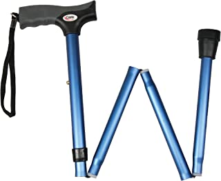 """Carex Soft Grip Folding Cane - Foldable Walking Cane For Women and Men - Adjustable Height (33""""-37""""), Anti-Slip Rubber Ti..."""