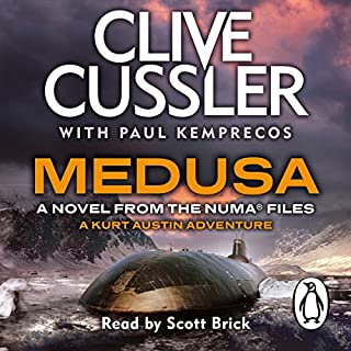 Medusa     NUMA Files: Book 8              By:                                                                                                                                 Clive Cussler,                                                                                        Paul Kemprecos                               Narrated by:                                                                                                                                 Scott Brick                      Length: 13 hrs and 29 mins     16 ratings     Overall 4.6