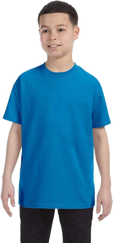 Hanes Youth 61 oz Tagless T-Shirt - SAPPHIRE - M - (Style # 54500 - Original Label)