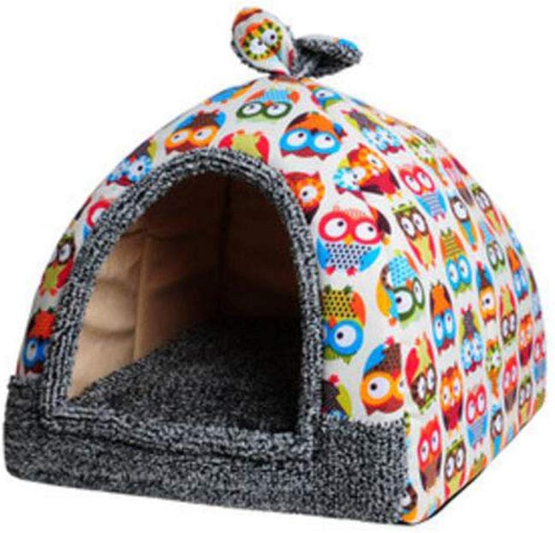 FH Kennel Cat Litter Small Dog Pet Nest Sleeping Bag Deep Sleep Dog House Supplies (color   D, Size   M)