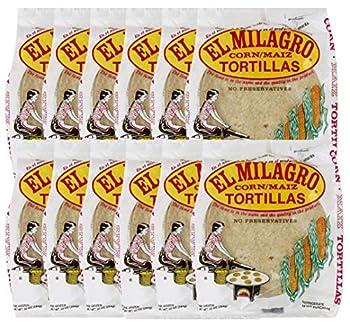 El Milagro Classic Corn Maiz Natural Soft Tortillas - 12 Pack