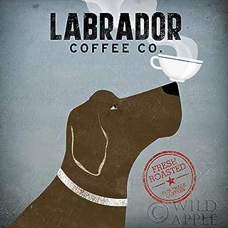 Labrador Coffee Co Ryan Fowler Coffee Sign Dog Lab Animals Print Poster