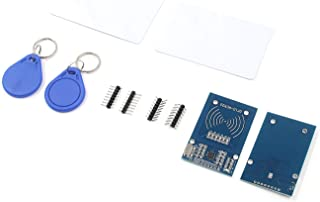 Tulead 2 Sets RC522 Reader Modules RFID Sensor 3.3V Mifare Card S50 IC Cards (Including S50 Blank Card,Key Ring)