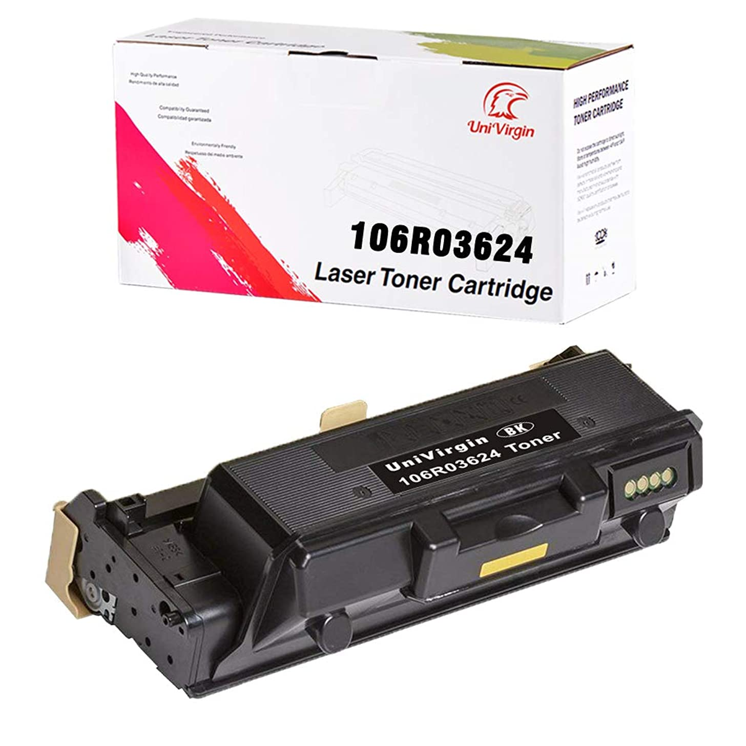 UniVirgin Compatible Toner Replacement for Xerox 106R03624 High Yield 15,000 Pages Toner Cartridge for Use in Xerox WorkCentre 3345, Xerox WorkCentre 3335, Xerox Phaser 3330 (106R03624 Black, 1-Pack)