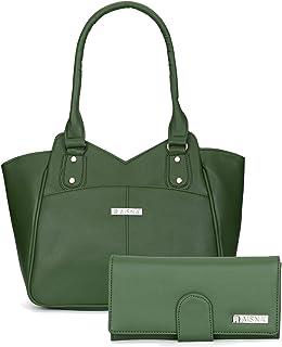 Aisna Women's Combo Handbag & Clutch(Green)
