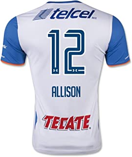 Cruz Azul #12 Allison 2015/16 Away Soccer Adult Football Jersey
