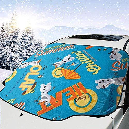 c-sky Disney Frozen Olaf Celebrate Sommer Allover Dark Blue Stoff Auto Windschutzscheibe Schnee EIS Frost Cover Sonnenschutz