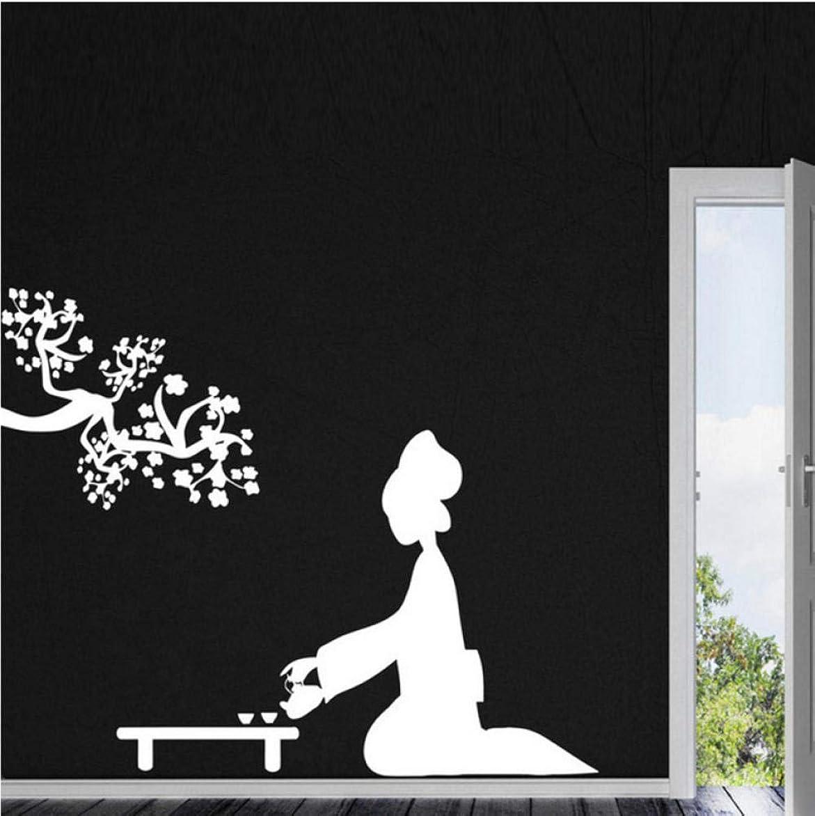 逆に荒涼としたサーバUpinfan ファッションビニール壁デカールリラックスフットマッサージ美容スパ壁画アートウォールステッカーヘルスセンター美容室装飾的な装飾56×80センチ