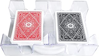 Yuanhe 2 Deck Revolving Rotating Canasta Playing Card Tray