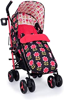 Cosatto Supa 3 Pushchair – Lightweight Stroller from Birth to 25kg | Compact Fold, Large Shopping Basket, Footmuff (Fairy Garden Daisy)