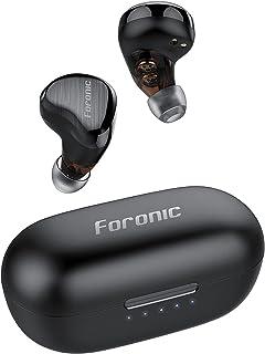 FORONIC Audífonos Inalambricos Bluetooth con HD Micrófono para Conferencia/Llamadas/Música, Wireless Bluetooth Headphones 5.1 con Control Táctil/Dual Dynamic Drives/Cancelación de Ruido, Auriculares In Ear Bluetooth Deportivos para Celular/PC/TV