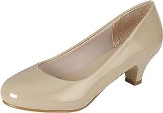 Cambridge Select Women's Classic Dress Formal Round Toe Low Mid Heel Pump