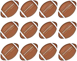 Kicko 16 Inch Inflatable American Football Toy - 12 Pieces of Squishy and Bouncy Ball - Party Bag Fillers, Kick Sports, Perfect All-Season Outdoor and Indoor Games - Beach Pool