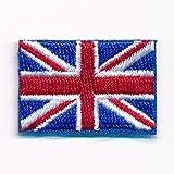 0635Patch écusson thermocollant 30x 20mm Drapeau du Royaume-Uni