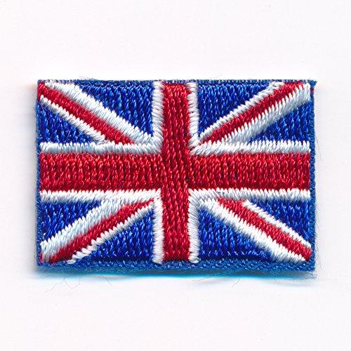30 x 20 mm Königreich Großbritannien London Flag Aufnäher Aufbügler 0635 Mini