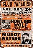 DGBELL Howling Wolf Muddy Waters Retro Wand Dekoration Zinn