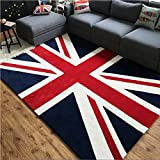 Alfombra estilo Inglaterra, alfombra de bandera inglesa, sala de estar, dormitorio, alfombra, mesa de té, sofá, mesita de noche