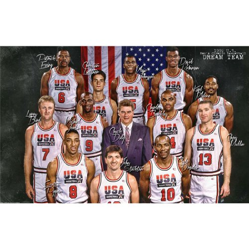Monty Arts USA Dream Team Poster by Silk Printing # Size About (95cm x 60cm, 38inch x 24inch) # Unique Gift # 5662F6
