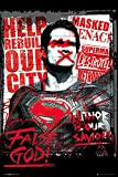 POSTER STOP ONLINE Batman vs. Superman Dawn of Justice - Propaganda Movie Poster/Print (Superman - False God) (Size 24' x 36')